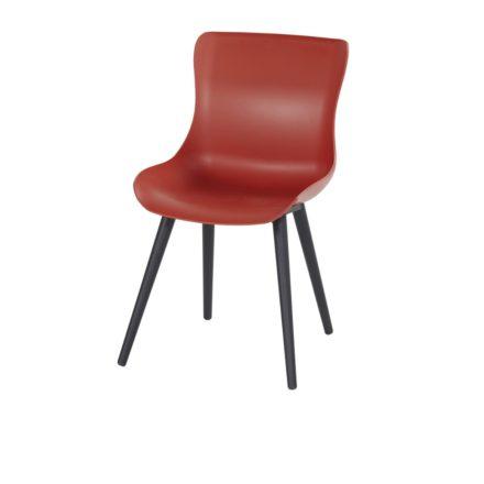 "Hartman ""Sophie Studio"" Dining Chair, Gestell Aluminium carbon black, Sitzschale vulcano red"