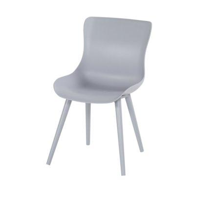 "Hartman ""Sophie Studio"" Dining Chair, Gestell Aluminium misty grey, Sitzschale misty grey"