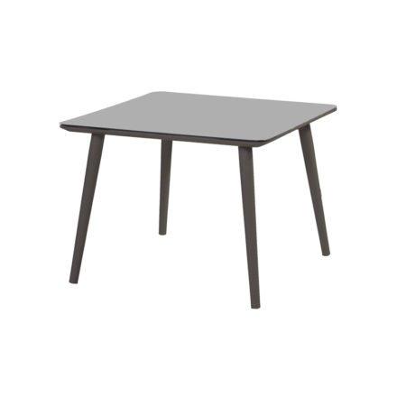 """Hartman """"Sophie Studio"""" Gartentisch, Gestell Aluminium carbon black, Tischplatte HPL carbon black, Größe 100 x 100 cm"""