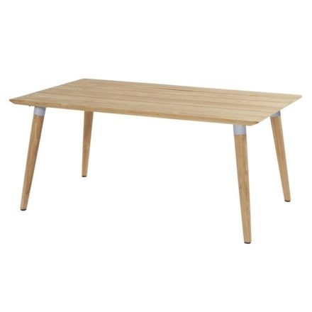 "Hartman ""Sophie Studio"" Gartentisch Teak, Gestell Teakholz, Tischplatte Teakholz, Gestell-Absetzung misty grey, Maße 170x100 cm"