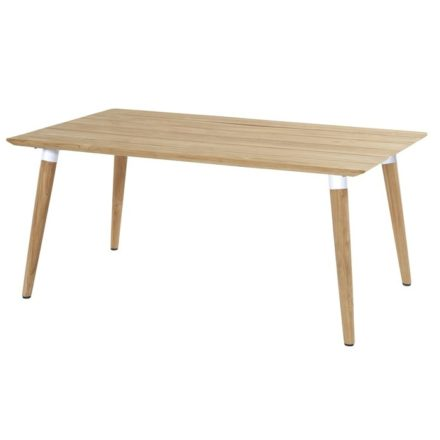 "Hartman ""Sophie Studio"" Gartentisch Teak, Gestell Teakholz, Tischplatte Teakholz, Gestell-Absetzung royal white, Maße 170x100 cm"