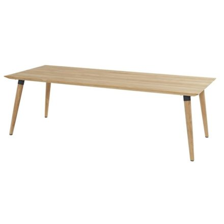 "Hartman ""Sophie Studio"" Gartentisch Teak, Gestell Teakholz, Tischplatte Teakholz, Gestell-Absetzung carbon black, Maße 240x100 cm"