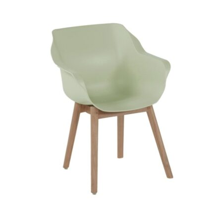 "Hartman ""Sophie Teak"" Armchair, Gestell Teakholz, Sitzfläche Kunststoff french green"