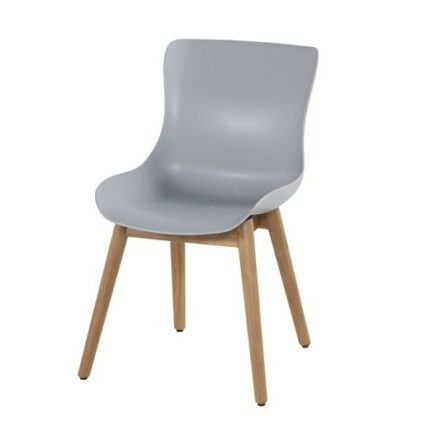 "Hartman ""Sophie"" Dining Chair, Gestell Teakholz, Sitzschale Kunststoff misty grey"