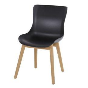 "Hartman ""Sophie"" Dining Chair, Gestell Teakholz, Sitzschale Kunststoff carbon black"