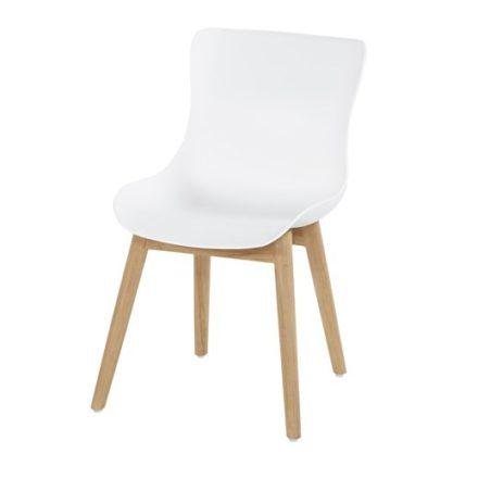 "Hartman ""Sophie"" Dining Chair, Gestell Teakholz, Sitzschale Kunststoff royal white"