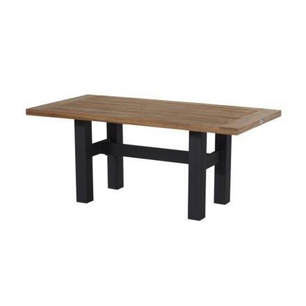 """Hartman """"Sophie Yasmani"""" Gartentisch, Gestell Aluminium carbon black, Tischplatte Teakholz vintage brown, Maße 180 x 95 cm"""