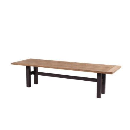 """Hartman """"Sophie Yasmani"""" Gartentisch, Gestell Aluminium carbon black, Tischplatte Teakholz vintage brown, Maße 300x100 cm"""