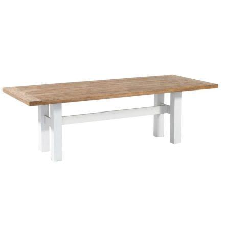 """Hartman """"Sophie Yasmani"""" Gartentisch, Gestell Aluminium white, Tischplatte Teakholz vintage brown, Maße 240x100 cm"""