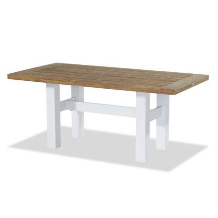 """Hartman """"Sophie Yasmani"""" Gartentisch, Gestell Aluminium white, Tischplatte Teakholz vintage brown, Maße 180x95 cm"""