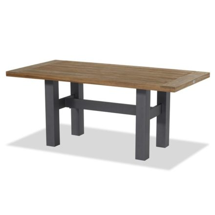 """Hartman """"Sophie Yasmani"""" Gartentisch, Gestell Aluminium xerix, Tischplatte Teakholz vintage brown, Maße 180x95 cm"""