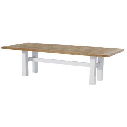 """Hartman """"Sophie Yasmani"""" Gartentisch, Gestell Aluminium white, Tischplatte Teakholz vintage brown, Maße 300x100 cm"""