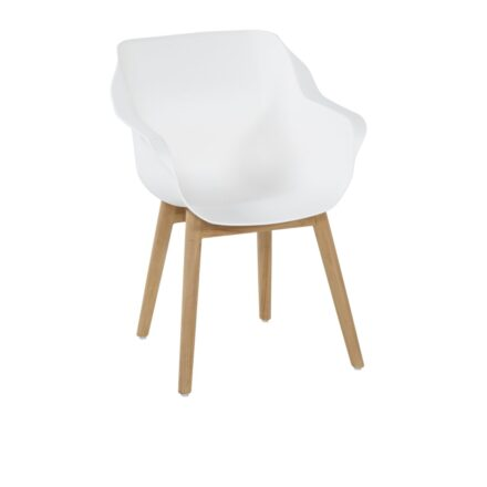 "Hartman ""Sophie Teak"" Armchair, Gestell Teakholz, Sitzfläche Kunststoff royal white"