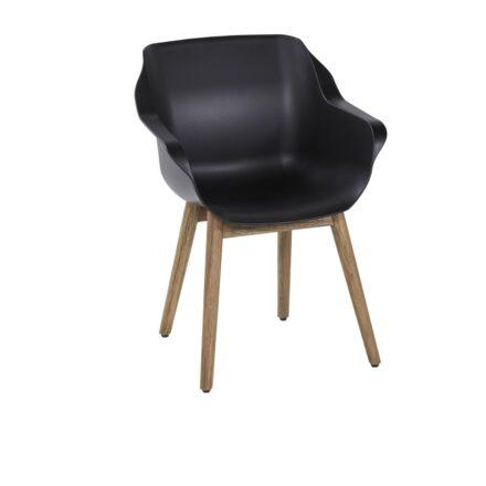 "Hartman ""Sophie Teak"" Armchair, Gestell Teakholz, Sitzfläche Kunststoff carbon black"