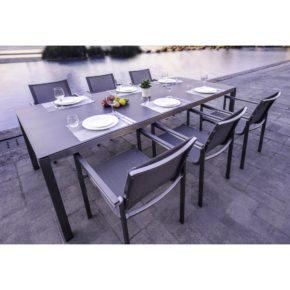 """Home Islands Gartentisch """"Miharu"""", Tischplatte Keramik (Abb. weicht ab), Stuhl """"Daiki"""""""