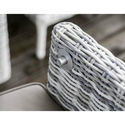 "Home Islands ""Arisu"" Relax Dining Chair, Gestell Aluminium, Polyrattan Geflecht Salt/Pepper weiß mit grauem Verlauf"