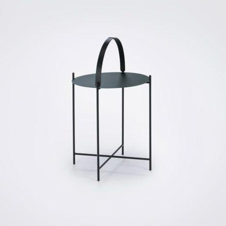 """Houe """"Edge"""" Beistelltisch kieferngrün/schwarz, Durchmesser 46 cm"""