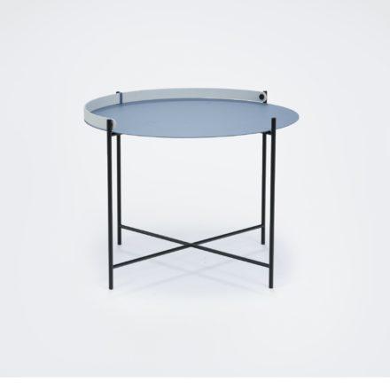 """Houe """"Edge"""" Beistelltisch taubenblau/weiß, Durchmesser 62 cm"""