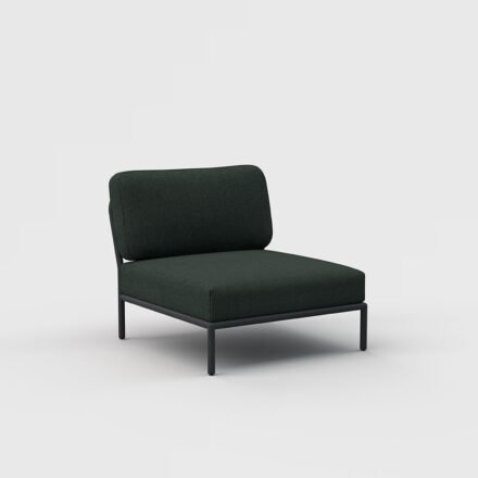 "Houe ""Level"" Loungesessel, Gestell Aluminium, Textilgewebe Sunbrella Heritage Alpine green"