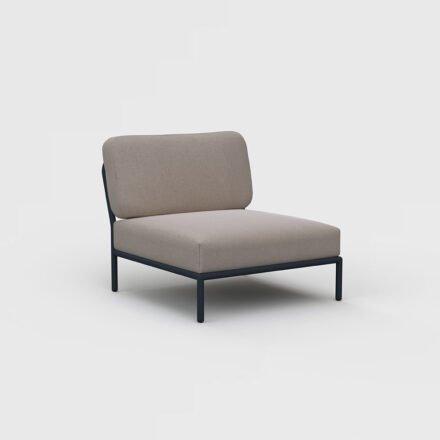 "Houe ""Level"" Loungesessel, Gestell Aluminium, Textilgewebe Sunbrella Heritage Ash"