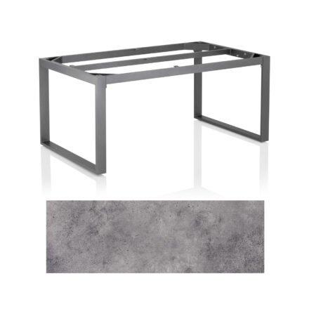 """Kettler Casual Dining Tisch """"Ocean Modular"""", Gestell Aluminium anthrazit, Tischplatte HPL anthrazit, 160x95 cm"""
