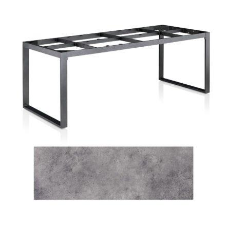 """Kettler Casual Dining Tisch """"Ocean Modular"""", Gestell Aluminium anthrazit, Tischplatte HPL anthrazit, 220x95 cm"""