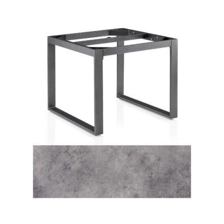 """Kettler Casual Dining Tisch """"Ocean Modular"""", Gestell Aluminium anthrazit, Tischplatte HPL anthrazit, 95x95 cm"""