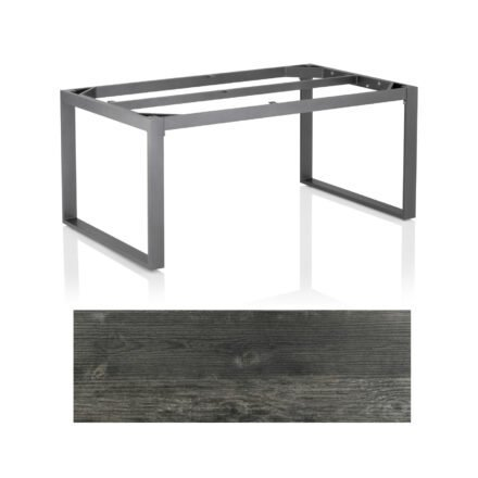 "Kettler Casual Dining Tisch ""Ocean Modular"", Gestell Aluminium anthrazit, Tischplatte HPL Pinie anthrazit, 160x95 cm"