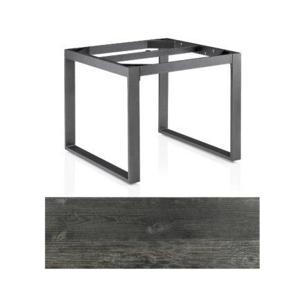"Kettler Casual Dining Tisch ""Ocean Modular"", Gestell Aluminium anthrazit, Tischplatte HPL Pinie anthrazit, 95x95 cm"