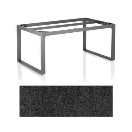"""Kettler Casual Dining Tisch """"Ocean Modular"""", Gestell Aluminium anthrazit, Tischplatte HPL Stahl, 160x95 cm"""
