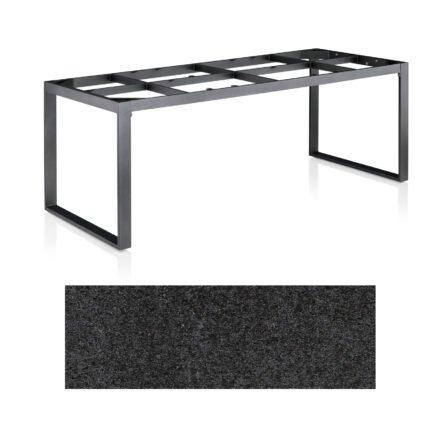 """Kettler Casual Dining Tisch """"Ocean Modular"""", Gestell Aluminium anthrazit, Tischplatte HPL Stahl, 220x95 cm"""
