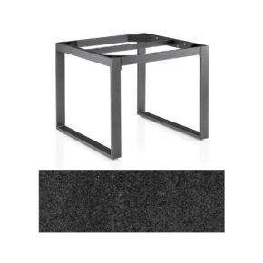 """Kettler Casual Dining Tisch """"Ocean Modular"""", Gestell Aluminium anthrazit, Tischplatte HPL Stahl, 95x95 cm"""