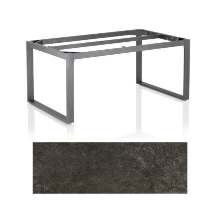 "Kettler Casual Dining Tisch ""Ocean Modular"", Gestell Aluminium anthrazit, Tischplatte Keramik anthrazit, 160x95 cm"