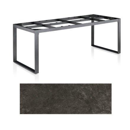 "Kettler Casual Dining Tisch ""Ocean Modular"", Gestell Aluminium anthrazit, Tischplatte Keramik anthrazit, 220x95 cm"