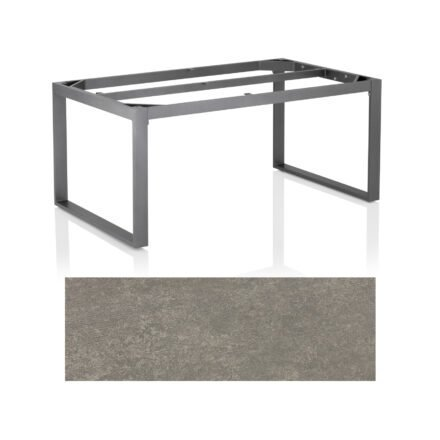 "Kettler Casual Dining Tisch ""Ocean Modular"", Gestell Aluminium anthrazit, Tischplatte Keramik grau-taupe, 160x95 cm"