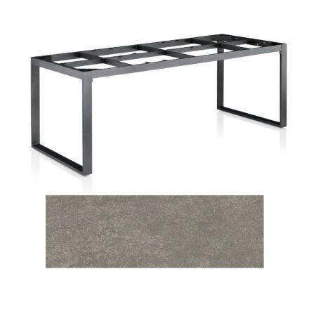 "Kettler Casual Dining Tisch ""Ocean Modular"", Gestell Aluminium anthrazit, Tischplatte Keramik grau-taupe, 220x95 cm"