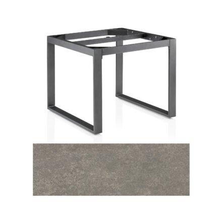"Kettler Casual Dining Tisch ""Ocean Modular"", Gestell Aluminium anthrazit, Tischplatte Keramikglas grau-taupe, 95x95 cm"