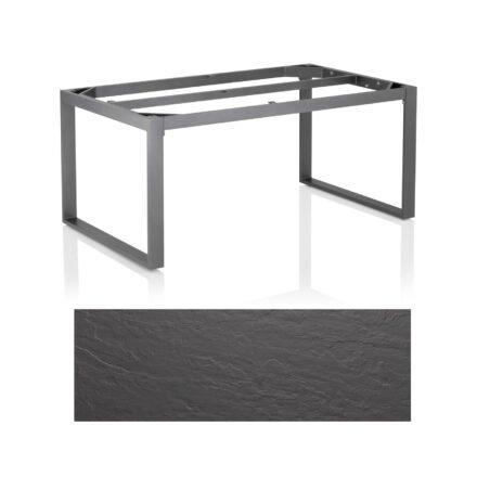 "Kettler Casual Dining Tisch ""Ocean Modular"", Gestell Aluminium anthrazit, Tischplatte Kettalux Plus anthrazit (Schieferoptik), 160x95 cm"