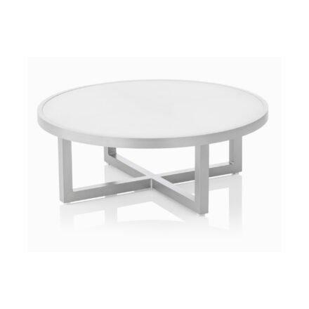 "Kettler ""Ego"" Loungetisch, Gestell Aluminium silber, Tischplatte Glas"
