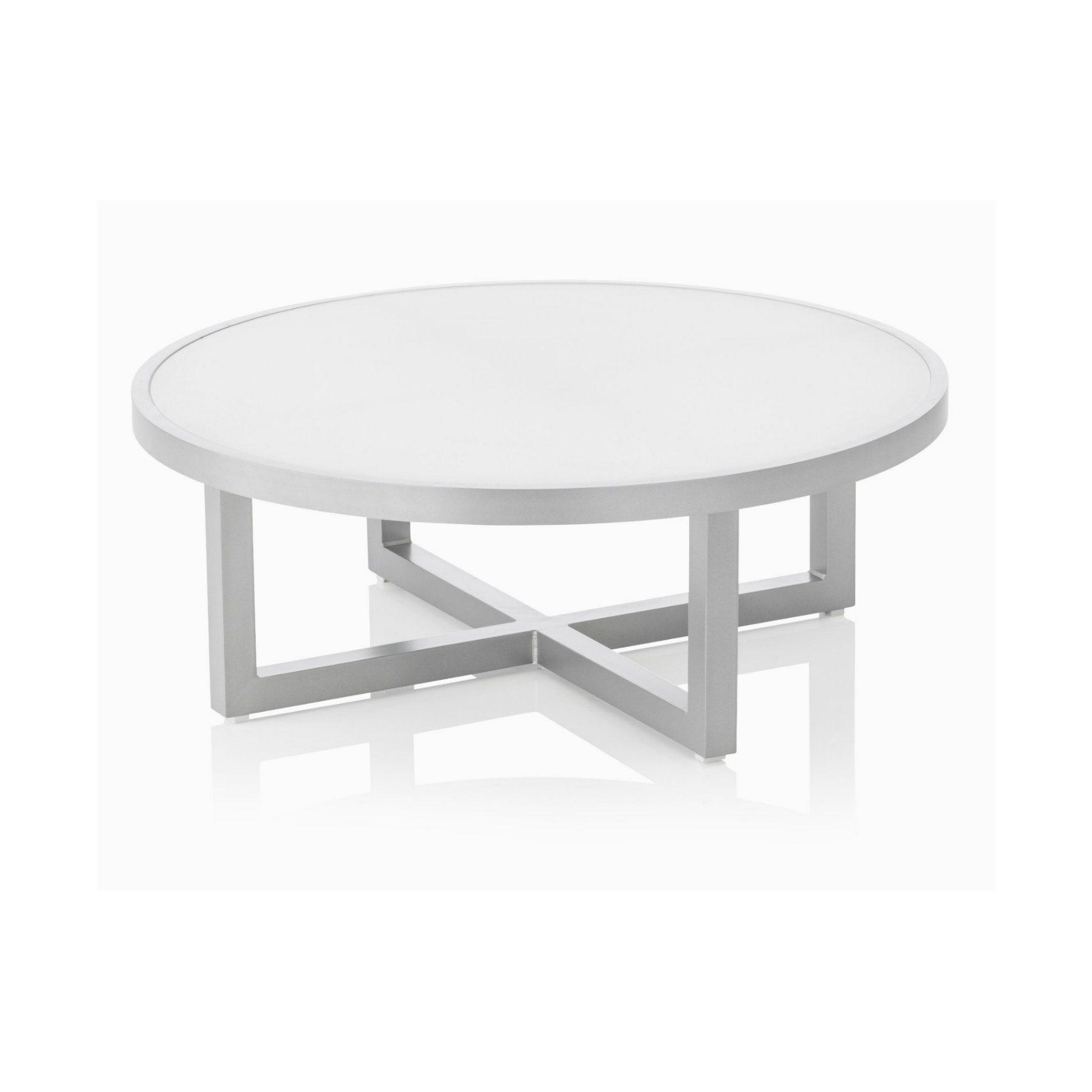 "Kettler ""Ego"" Lounge-Tisch, Aluminiumgestell silber, Tischplatte Glas"