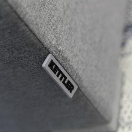 """Kettler """"Fino"""" Casual Dining Hocker, Aluminiumgestell silber, Textilgewebe Sunbrella flanelle, Kettler-Schriftzug"""