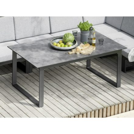 "Kettler ""Ocean Modular"" Casual Dining-Tisch in 160x95 cm, Aluminiumgestell anthrazit, hier mit Tischplatte HPL anthrazit"
