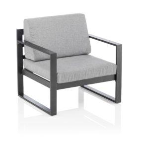 """Kettler """"Ocean Modular"""" Sessel, Aluminium-Gestell anthrazit, inklusive Polster mit Olefin-Bezug hellgrau meliert"""