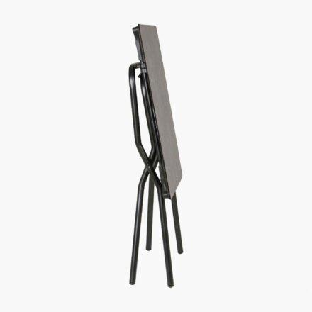 """Lafuma Klapptisch """"Anytime"""", zusammengeklappt, Größe 68x64 cm, Stahl schwarz, HPL mineral © LAFUMA MOBILIER - Pierrick Verny"""