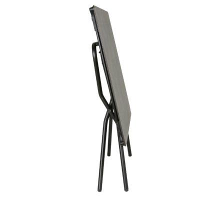 """Lafuma Klapptisch """"Anytime"""", Stahlgestell schwarz mit HPL-Tischplatte 139x79 cm volcanic, zusammengeklappt"""