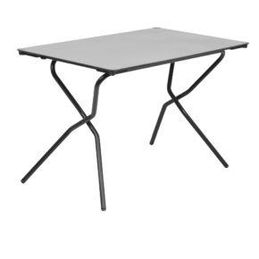 """Lafuma Klapptisch """"Anytime"""", Stahlgestell schwarz mit HPL-Tischplatte 110x68 cm stone"""