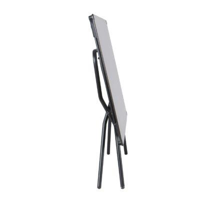 """Lafuma Klapptisch """"Anytime"""", Stahlgestell schwarz mit HPL-Tischplatte 139x79 cm stone, -zusammengeklappt"""