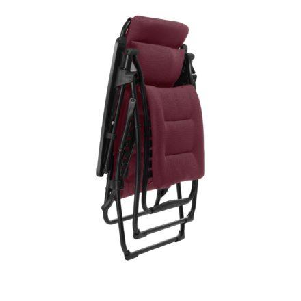 "Lafuma Relaxliege ""Futura Air Comfort"", Modell: LFM3110, Farbe: Bordeaux3186, zusammengeklappt"