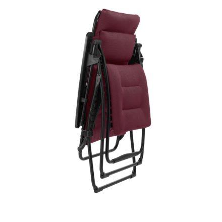 "Lafuma Relaxliege ""Futura XL Air Comfort"", Modell: LFM3114, Farbe: Bordeaux3186, zusammengeklappt"