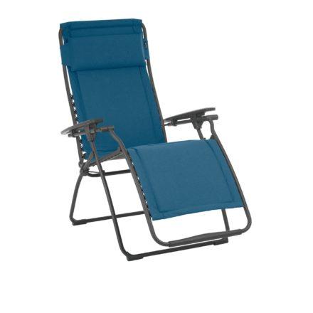 """Lafuma Relaxsessel """"Futura"""" mit Bezug Padded Polycotton Farbe Jeans8550, Gestellfarbe basalt"""